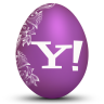 96x96px size png icon of yahoo white