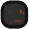 96x96px size png icon of clock digital