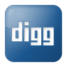 96x96px size png icon of social digg box blue