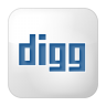 96x96px size png icon of social digg box white