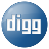 96x96px size png icon of social digg button blue