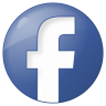 96x96px size png icon of social facebook button blue