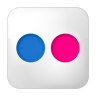 96x96px size png icon of social flickr box