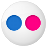 96x96px size png icon of social flickr button