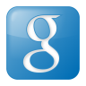 96x96px size png icon of social google box blue