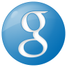 96x96px size png icon of social google button blue