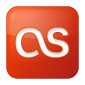 96x96px size png icon of social lastfm box red