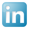 96x96px size png icon of social linkedin box blue