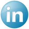 96x96px size png icon of social linkedin button blue