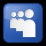 96x96px size png icon of social myspace box blue