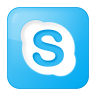 96x96px size png icon of social skype box blue