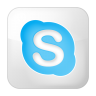96x96px size png icon of social skype box white