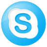 96x96px size png icon of social skype button blue