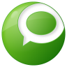 96x96px size png icon of social technorati button green