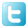 96x96px size png icon of social twitter box blue