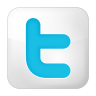 96x96px size png icon of social twitter box white
