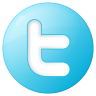 96x96px size png icon of social twitter button blue