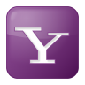 96x96px size png icon of social yahoo box lilac