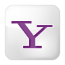96x96px size png icon of social yahoo box white