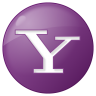 96x96px size png icon of social yahoo button lilac