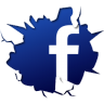 96x96px size png icon of social inside facebook