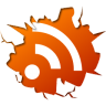 96x96px size png icon of social inside rss