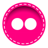 96x96px size png icon of flickr