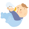 96x96px size png icon of baby drinking