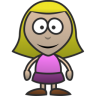 96x96px size png icon of Girl