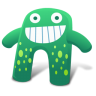 96x96px size png icon of Creature Green Blue