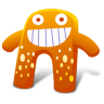 96x96px size png icon of Creature Orange