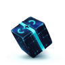 96x96px size png icon of Box 13 Blue