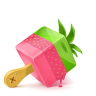 96x96px size png icon of Box 19 Ice Cream Strawberry