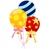 96x96px size png icon of balloons