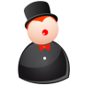 96x96px size png icon of black magic man