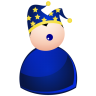 96x96px size png icon of harlequin blue