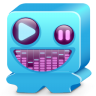 96x96px size png icon of monster blue