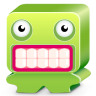 96x96px size png icon of monster green