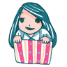 96x96px size png icon of Girl in a Box