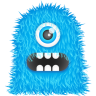 96x96px size png icon of Blue Monster