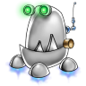 96x96px size png icon of robot trash