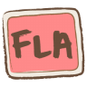 96x96px size png icon of fla