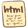 96x96px size png icon of html