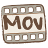 96x96px size png icon of mov