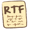 96x96px size png icon of rtf