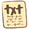 96x96px size png icon of txt