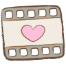 96x96px size png icon of video file