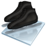 96x96px size png icon of speed skating
