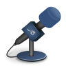96x96px size png icon of microphone foam blue