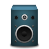 96x96px size png icon of speaker blue